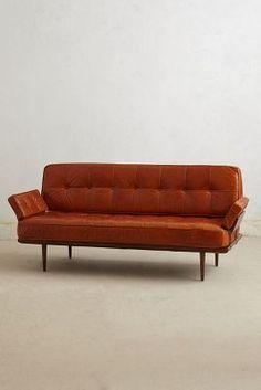 midcentury leather sofa