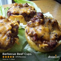 """Barbecue Beef Cups 