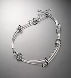 Blanche Tilden. Necklace: Flow, 2016. Flameworked borosilicate glass, titanium.