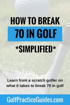 Want to break 70 in golf? Need practice drills, tips, or lessons to motivate you to achieve that next level on the golf course? Then use this guide which shares my thoughts on what milestones you need to hit during your golf practice routines for chipping, putting, short game, driving, iron play to get you on the road to scratch golf. Click to read the guide.