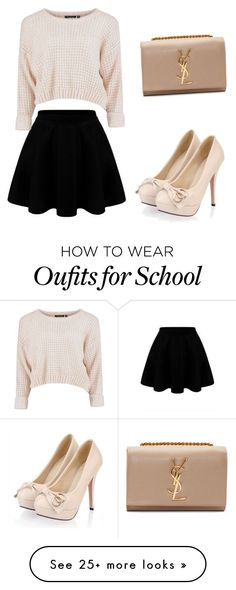 """school"" by plam0130 on Polyvore featuring Yves Saint Laurent"