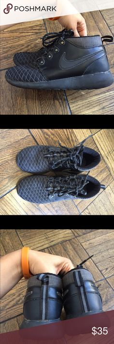 Nike boys sneakers size 4Y Black nike sneakers size 4Y, excellent condition; purchased at Nordstrom Nike Shoes Sneakers