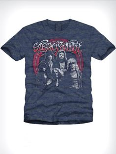 Buy T-Shirts Online | Aerosmith Dark Blue Milange T shirt | BIO-232 | cilory.com