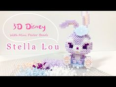 Hello everyone! This is my first time working with Mini Perler Beads. I bought this kit from online and it included the beads and the pattern to make this cr. Perler Bead Disney, 3d Perler Bead, Perler Bead Templates, Duffy The Disney Bear, Beaded Watches, Kawaii Diy, 3d Pattern, Cute Crafts, Kandi