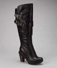 Take a look at this Brown & Black Marge Wood Tall Boot by Timberland Footwear on #zulily today!