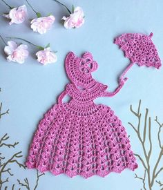 Check out this item in my Etsy shop https://www.etsy.com/ru/listing/262865383/crochet-crinoline-lady-doily-with-an