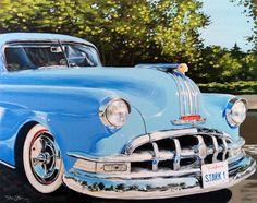 """Saatchi Art Artist Tatiana Zappa; Painting, """"1950's Pontiac Chieftain"""" #art"""