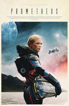 'Prometheus' fan art poster by Justin Van Genderen