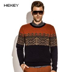 New fashion knitwear men jacquard sweater bottoming sweater round neck sweater Slim comfortable sweater MC156
