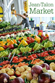 Jean Talon Market in Montreal's Little Italy section is a fabulous open-air market selling local produce, meat, cheese, and other products. It's the first place we stop when we travel to Montreal. My family loves this place!