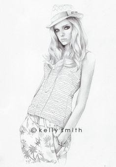 Gucci ORIGINAL fashion illustration by Kelly Smith
