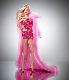 She's Pink, she's Sparkly and she's expected to fetch $15000. Pink Diamond Barbie Doll Auction to benefit MAC Aids foundation. Pics and details at http://ifitshipitshere.blogspot.com/2012/09/one-of-kind-pink-diamond-barbie-doll-by.html