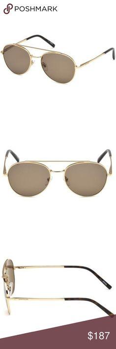 f651f3a6d1edc Mont Blanc Aviator Style Brown Gradient Lens Mont Blanc Men s Aviator  Sunglasses Having Shiny Rose Gold