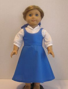 Princess Belle Town Dress for American Girl Doll by MotherofNine, $24.00