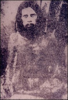 Very Old, Rare Photo Of Sai Baba Of Shirdi.  Born ? - 1918. An Indian guru, yogi, and fakir who is regarded by his Hindu and Muslim devotees as a saint.