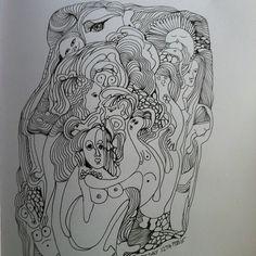 Zen human #sketcbook #artjournal #myart #meditation #janemonicatvedt #sandnes #norway