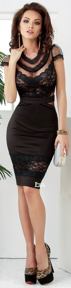 black lace dress #black