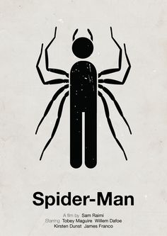 Pictogram Movie Posters by Viktor Hertz - Spiderman