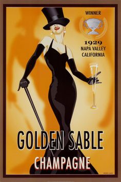 Cross Stitch Collectibles - - - Golden Sable Champagne - All Patterns - Food and Drink - - Posters - Vintage Art - Cross Stitch Collectibles Creative Advertising, Vintage Advertising Posters, Vintage Advertisements, Advertising Space, Éphémères Vintage, Vintage Art Prints, Vintage Labels, Vintage Italian, Vintage Signs