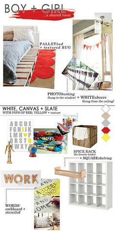 Kid's Room Inspiration Board by Tabitha Blue / Fresh Mommy, via Flickr