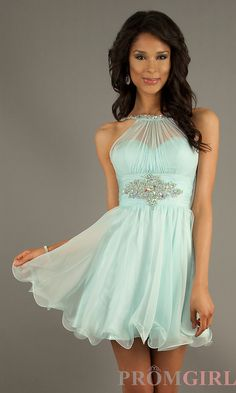 Prom Dresses, Celebrity Dresses, Sexy Evening Gowns at PromGirl: Short Sleeveless Homecoming Dress