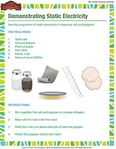 Demonstrating Static Electricity - Science Activity for 4th grade