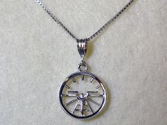 Aviation Attitude Indicator Small Sterling by AviationJewelry, $48.00