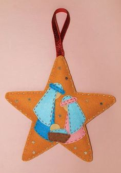 Christmas Crafts Sewing, Christmas Craft Fair, Felt Christmas Decorations, Felt Christmas Ornaments, Christmas Embroidery, Christmas Nativity, Christmas Hearts, Christmas Christmas, Nativity Crafts