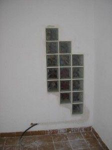 Instalacion de bloques de vidrio