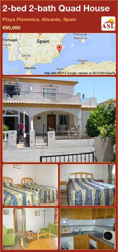 2-bed 2-bath Quad House in Playa Flemenca, Alicante, Spain ►€95,000 #PropertyForSaleInSpain