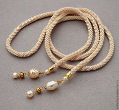 Seed Bead Jewelry, Beaded Jewelry, Jewelry Necklaces, Bead Crochet, Crochet Necklace, Embroidery Jewelry, Lariat Necklace, Bead Weaving, Jewelry Making