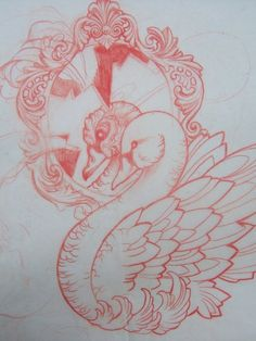 Swan tattoo design