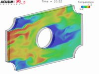 Computational Fluid dynamics modelling flow around a heat exchanger tube. From ACUSIM Software