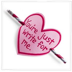 You're Just Write for Me! FREE Valentine Pencil Topper from Spoonful. Grab cheap craft ideas on Frugal Coupon Living.