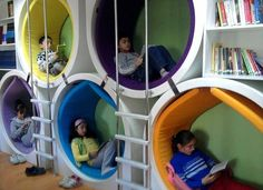 Pin 9: This pin displays an interesting contemporary reading station/learning environment.