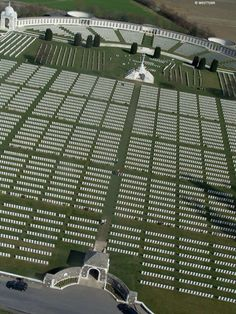 First World War battlefields of Ypres and the Somme - Tyne Cot. You don't truly understand how massive this cemetery is until you see it from the air..wow.