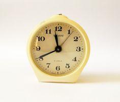 Vintage tabletop alarm clock SEVANI alarm clock by vintagelarisa, $30.88