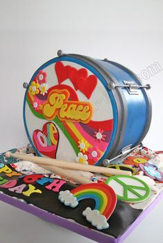 Celebrate with Cake!: Hippie Drum Cake