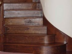 Fred has a really nice staircase! Wood Floor Stairs, Flooring For Stairs, Stair Risers, Really Cool Stuff, Solid Wood, Nice, Design, Floor, Stair Steps