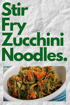 Stir Fry Zucchini Noodles (or Zoodles) are a great way of consuming a grain free meal, especially if you're on a paleo/keto diet. This recipe is delicious, nutritious and super easy to prepare. Healthy Stir Fry, Healthy Foods, Healthy Eating, Healthy Recipes, Chinese Recipes, Chinese Food, Stir Fry Zucchini Noodles, Paleo, Keto