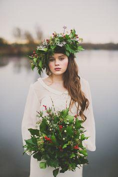 whimsical winter bride | Paula O'Hara Photography