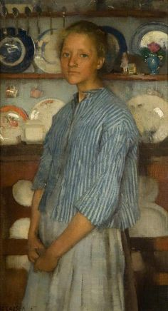 "ARTIST: George Clausen (English, 1852-1944)  ~ ""Normandy peasant"" (1887)"