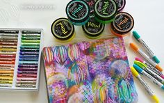 Heavenly art journal tutorial by Mimi Bondi