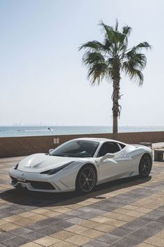 White Ferrari 458 Speciale. www.pinterest.com/lpasch- follow for more great cars.