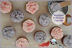 Strawberry and Blueberry Grain-free Dye-free Cupcakes via Homemade Mommy