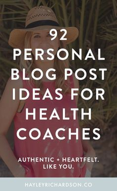 Looking for blog post ideas for your health blog? Look no further - here's 92 personal blog post ideas for health bloggers. Click through to read and get your b