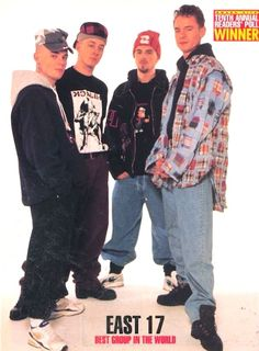 East 17 | 31 Boy Bands That You Probably Forgot Ever Existed - I love their songs.