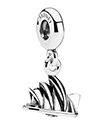 Pandora Charm Sydney Opera House  Remember your trip to Australia with this sterling silver Sydney Opera House dangle charm by Pandora.