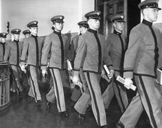 USMA Cadets marching with slide rules, 1941