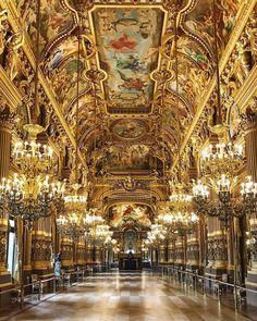 Paris France, Travel Around The World, Around The Worlds, Parisian Architecture, Paris Opera House, Destinations, Grand Foyer, Paris Pictures, Europe